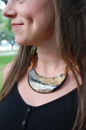 Half Moon Horn Necklace by Atelier Calla