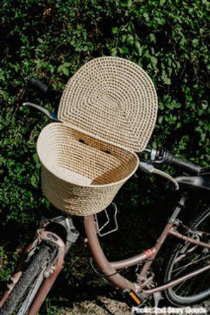 Palm Leaf Bicycle Basket - Adult