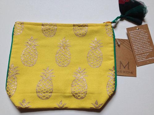 Metallic Pineapple Cosmetic Bag