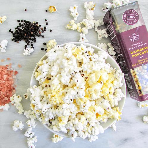 Rainbow Popcorn with Pink Himalayan Salt & Black Pepper