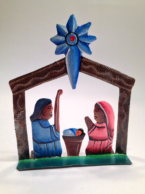 Painted Haitian Nativity