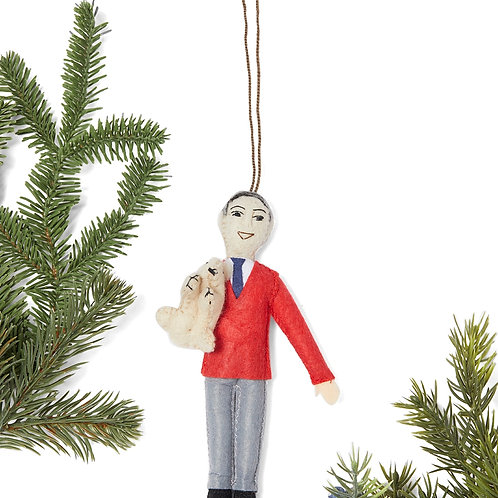 Mister Rogers Felted Ornament