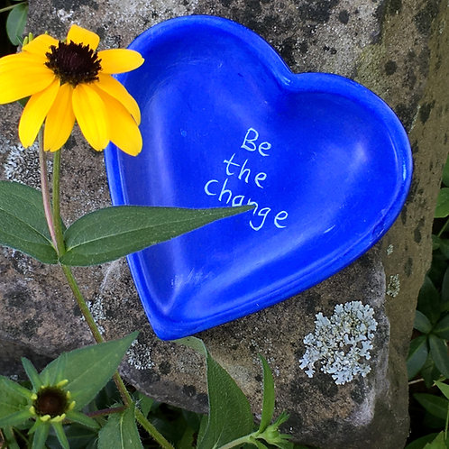 Soapstone Heart Dish - Be the Change