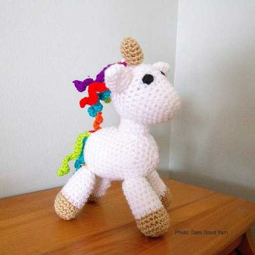 DIY Unicorn Amigurumi Knit & Crochet Kit