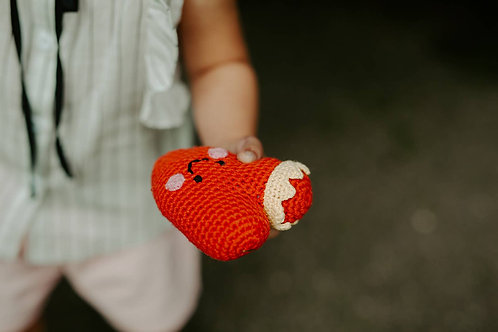Crowned Heart Rattle - Red