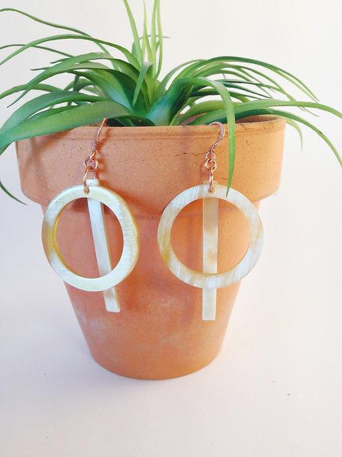 Through the Hoop Earrings
