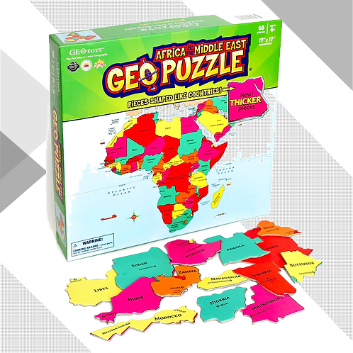 Africa and Middle East GeoPuzzle - 65 pieces