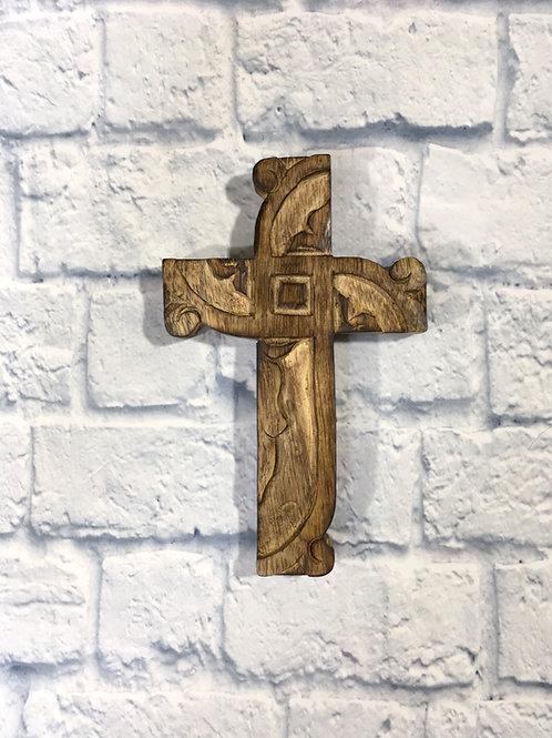 Mango Wood Scroll Cross