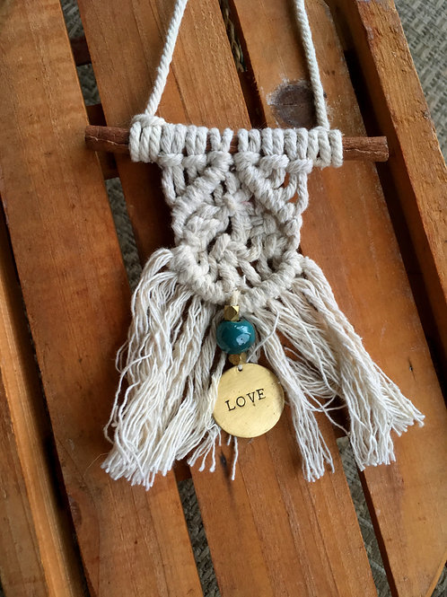 Faith, Hope, & Love Mini Macrame