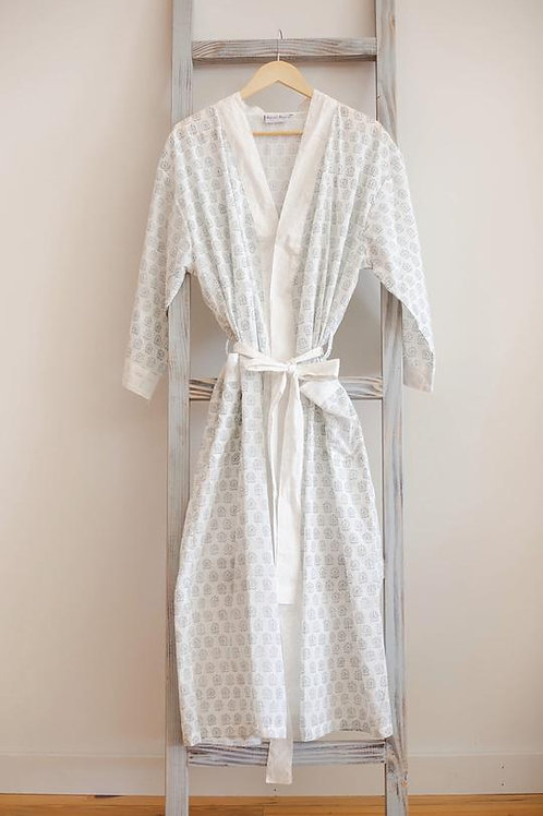Handmade Cotton Robe - Dreamy White