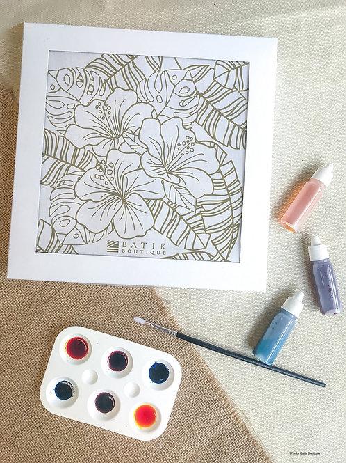 Hibiscus Batik Painting Kit