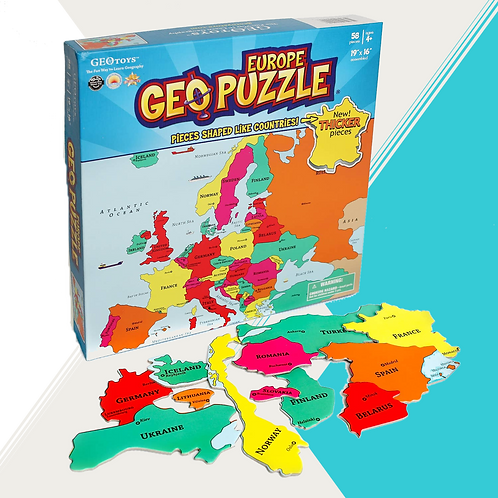 Europe GeoPuzzle - 58 pieces