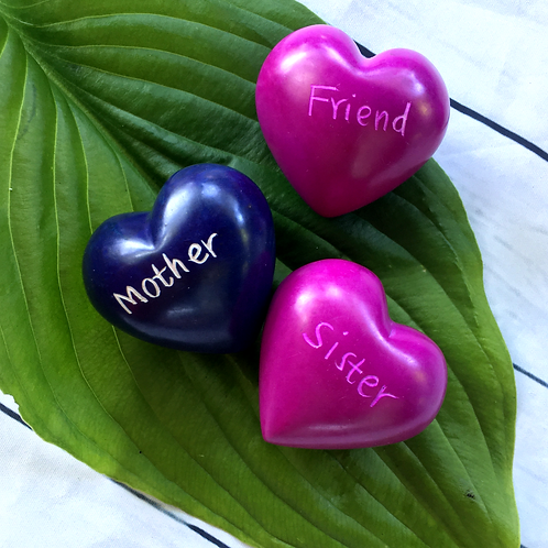 Soapstone Hearts - Friend, Sister, Mother