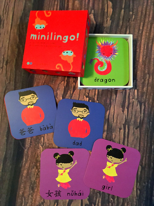 Minilingo Chinese-English Bilingual Cards