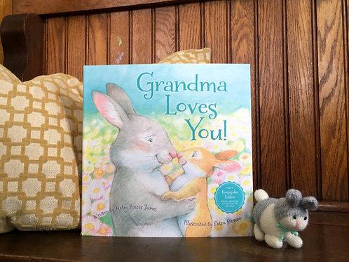 Grandma Loves You Book + Bunny Bundle