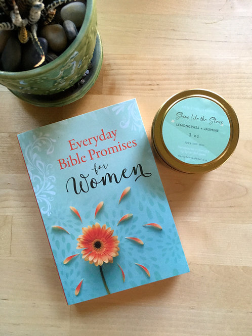 Everyday Bible Promises for Women + Shine Like the Stars Candle