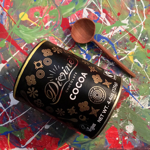 Divine Cocoa (4.4oz) + Hand-Carved Spoon