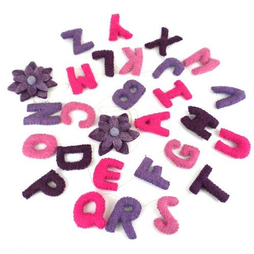 Alphabet Garland - Pastels