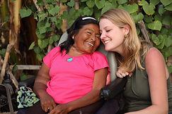Joy and Peruvian artisan Maritza.JPG