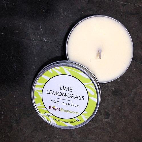 Lime Lemongrass Soy Candle