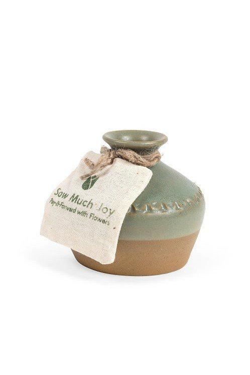 Sow Much Joy Vase