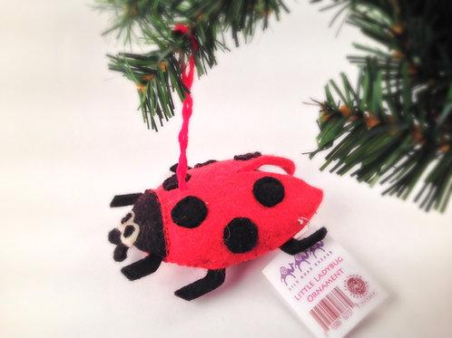 Little Ladybug Felted Ornament