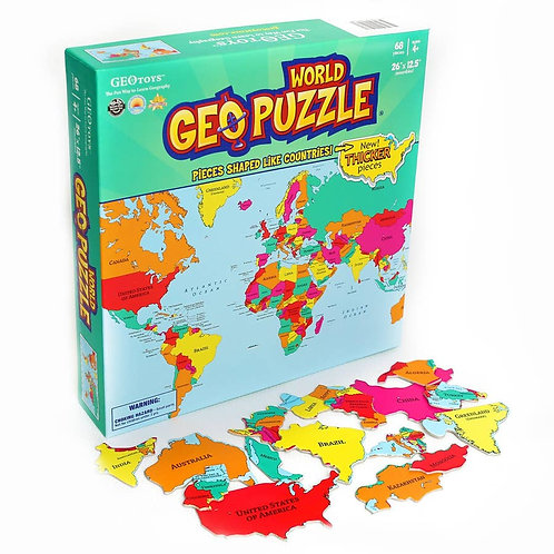 WORLD GeoPuzzle - 68 pieces
