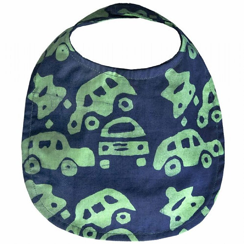 Organic Baby Bib - Cars
