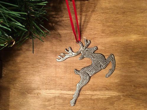 Recycled Steel Drum Reindeer Ornaments