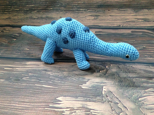 Crocheted Dino Rattle