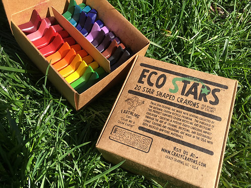 Eco Stars Solid Crayons - Box of 20