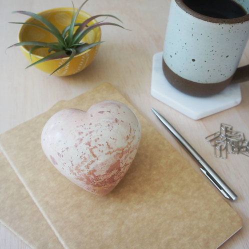 Large Soapstone Heart Paperweight