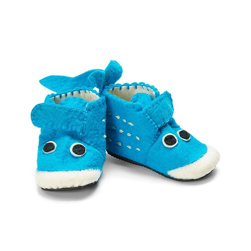 Blue Whale Zootie Booties - Toddler