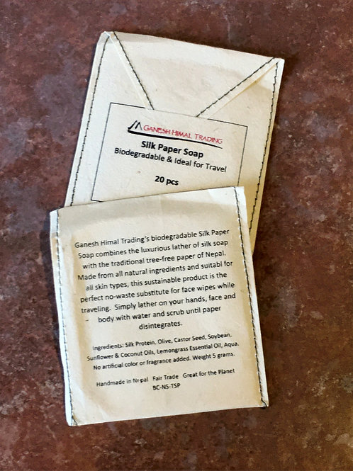 Biodegradable Silk Soap Papers