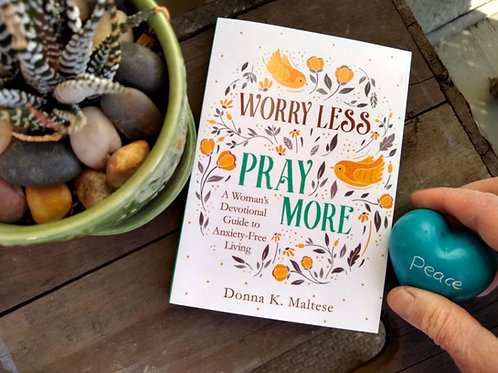Worry Less, Pray More Devotional + Soapstone Heart