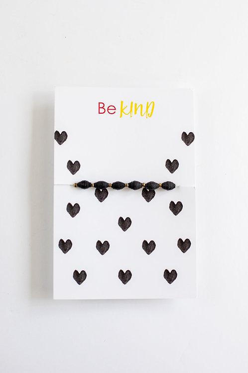 Be Kind Paper Bead Bracelet