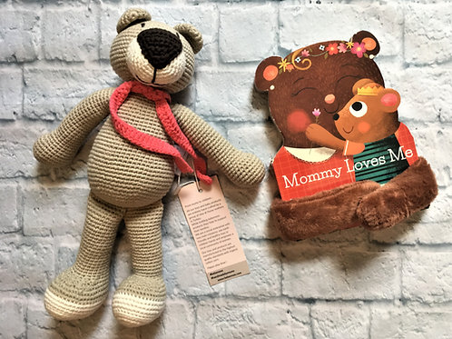 Mommy Loves You Book & Bear Bundle - Beige