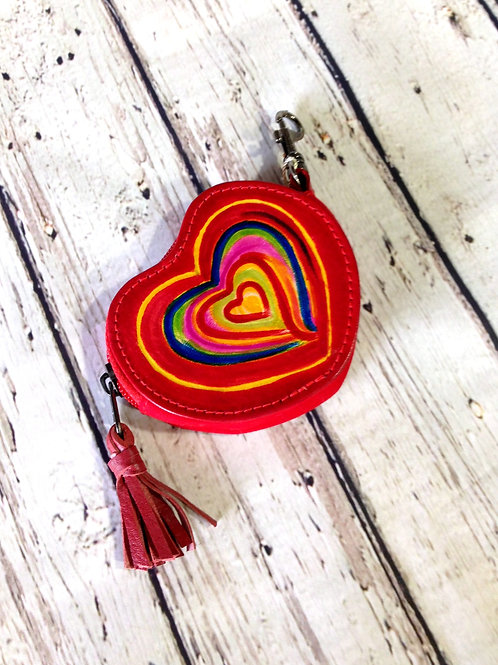 Groovy Heart Coin Purse