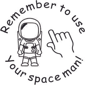 Space Man Finger Spaces Stamp