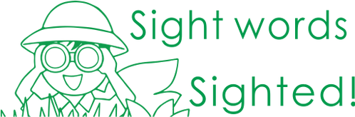 Sight Word Sighted Stamp