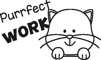 Purrfect Work Stamp