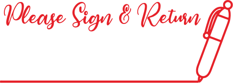 Sign and Return Stamp