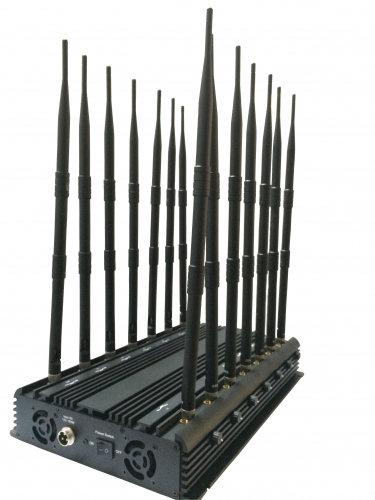 Monster14CH подавитель связи GSM900, GSM1800, 3G, CDMA, 315, 433, 868, GPS, 4G LTE, 4G Wimax, VHF, UHF, Wi-Fi, GPS/GLONASS L2