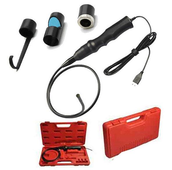 Досмотровая эндоскопическая видеокамера с яркой светодиодной подсветкой