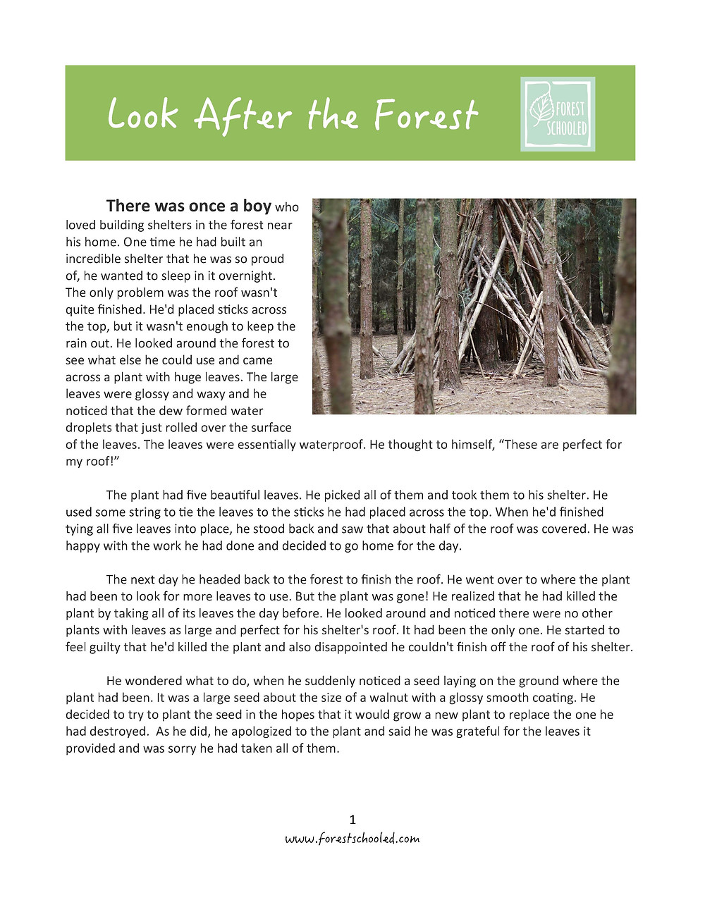 Download 'Look After the Forest' Story