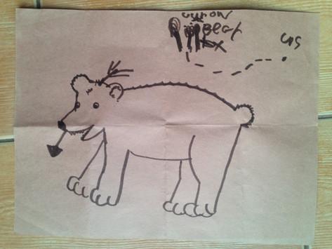 He killed my bear...