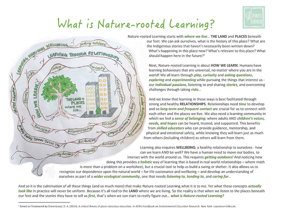 What is Nature-rooted Learning (lower re