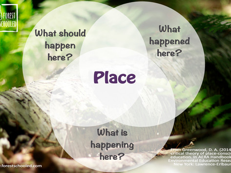 Exploring what Place-based means in Forest School...