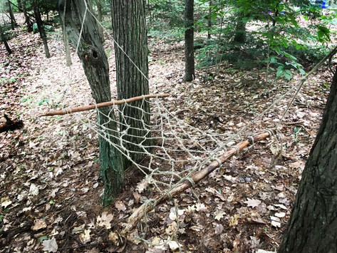 How to make a hammock with sticks and string...