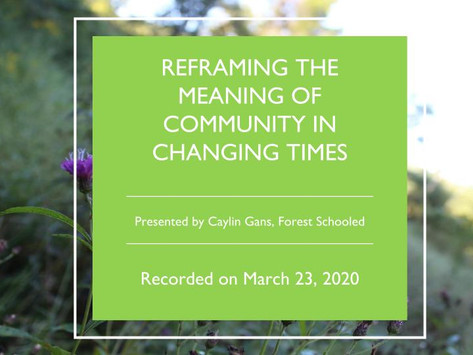 Reframing the Meaning of Community in Changing Times